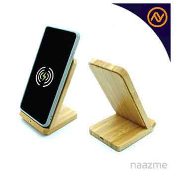 bamboo wireless charger stand dubai