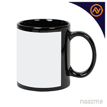 mug in black with white printable area dubai