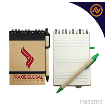 recycled notebook with pen dubai