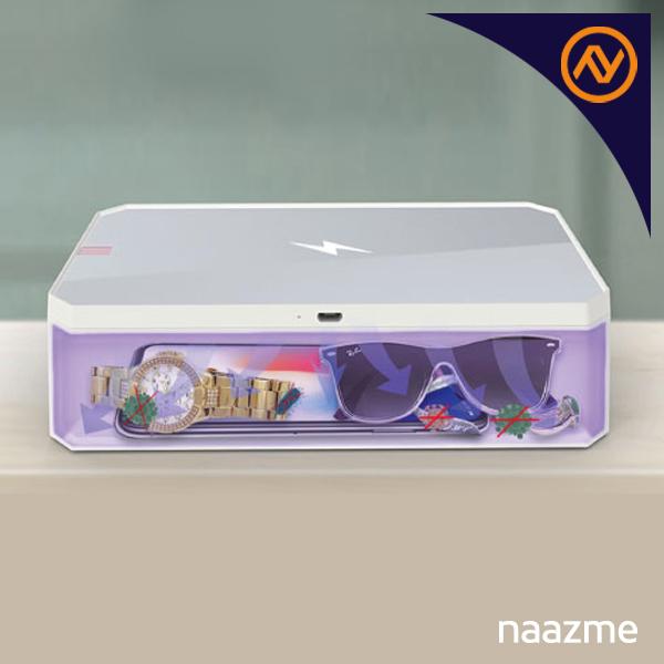 uv sterilizer box with wireless charger dubai
