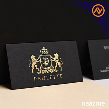 gold foiled business cards dubai