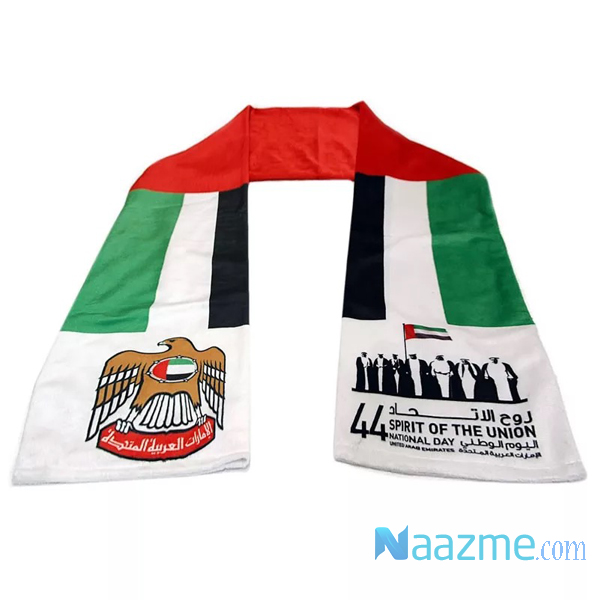 national day scarf with logo printing dubai uae abudhabi sharjah ajamn