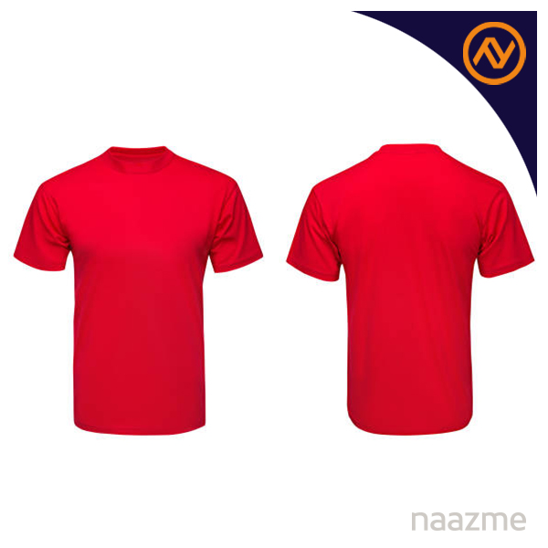 red round neck tshirt dubai