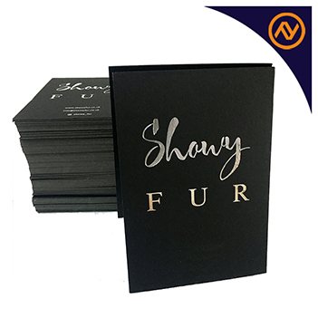silver foiled business cards dubai