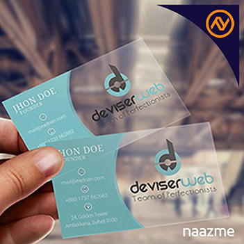transparent business cards dubai